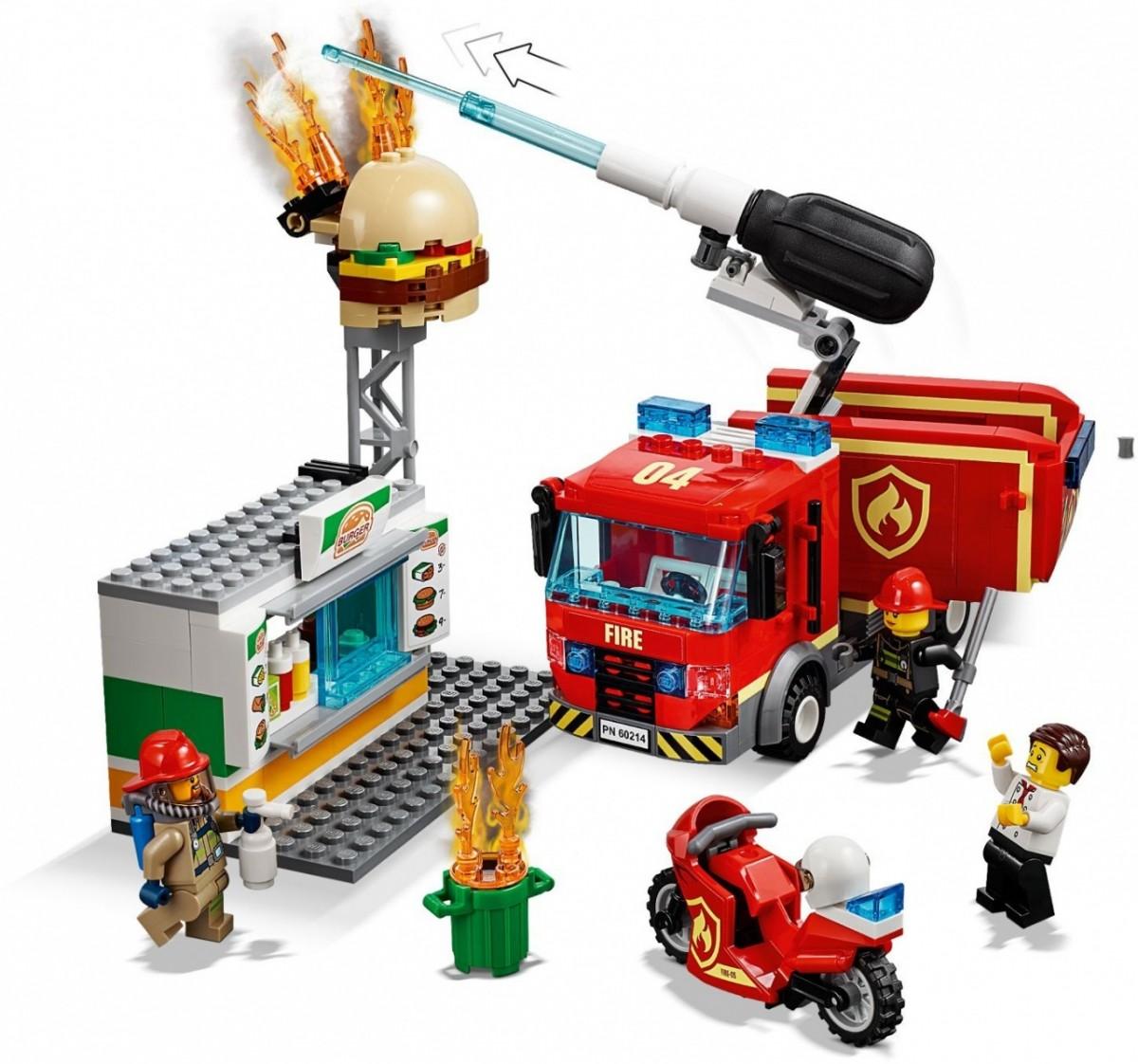 Klocki LEGO 60214 City Na ratunek w płonącym barze (42538)